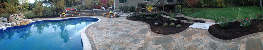 Landscaping Pavers Syracuse Ny : Syracuse in ground swimming pool design install by